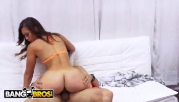 Ava spreads Gracie's legs exposing her pretty shaved pussy